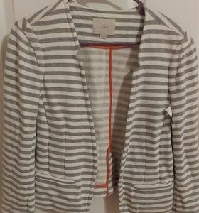 Loft Size Medium Gray striped blazer